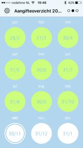 btw-alert app maand tijdvak